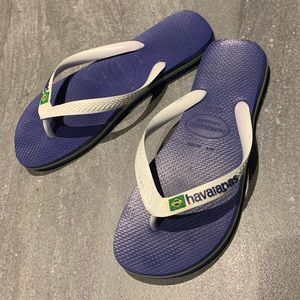 Havaianas Brazil blue and white size 41-42 eur
